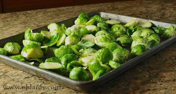 Brussel Sprouts with Cranberry Brown Butter