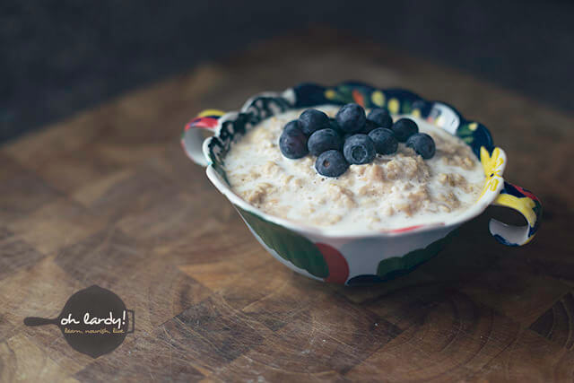 A funny thing happened on the way to the scale: Soaked oatmeal