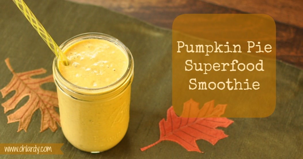 Pumpkin Pie Superfood Smoothie - www.ohlardy.com