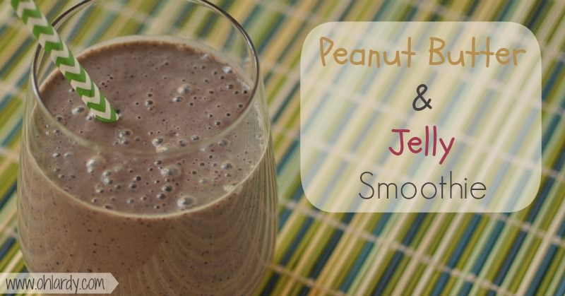 Peanut Butter and Jelly Smoothie - www.ohlardy.com