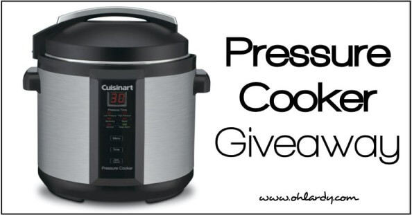 Pressure Cooker Giveaway - www.ohlardy.com