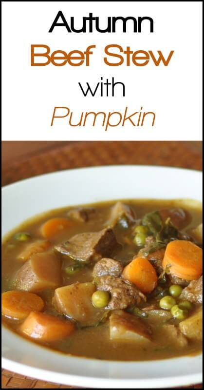 Autumn Beef Stew with Pumpkin