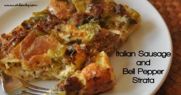 Italian Sausage and Bell Pepper Strata