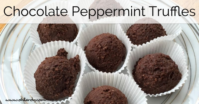 Homemade Dark Peppermint Truffles from Homemade Mommy