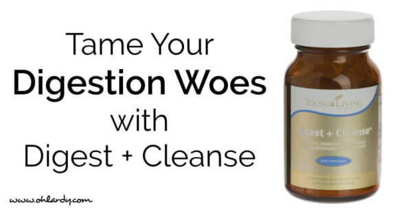 Digest + Cleanse Essential Oil Supplement - Young Living Essential Oils - tame your digestive ailments naturally
