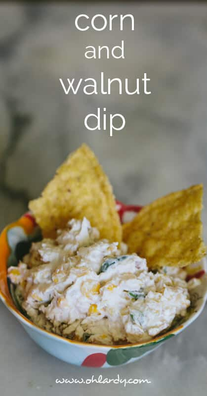 corn and walnut dip - ohlardy.com #appetizers #dip #recipes