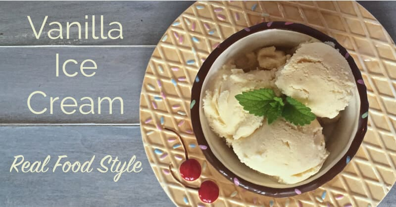 The Best Homemade Vanilla Ice Cream Recipe - Real Food Style - www.ohlardy.com