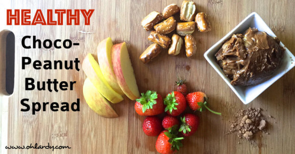 Healthy Chocolate Peanut Butter Spread - with superfoods - www.ohlardy.com