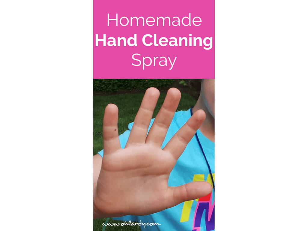 Homemade Hand Cleaning Spray Recipe