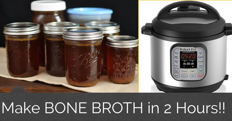 How to Make Bone Broth in 2 Hours in an Instant Pot