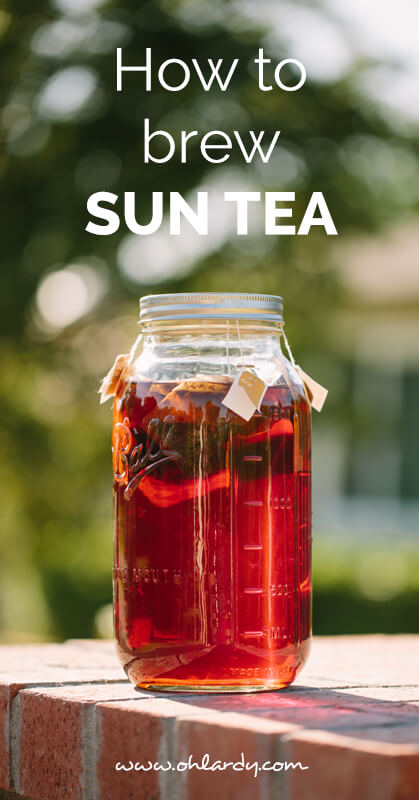 How to brew sun tea