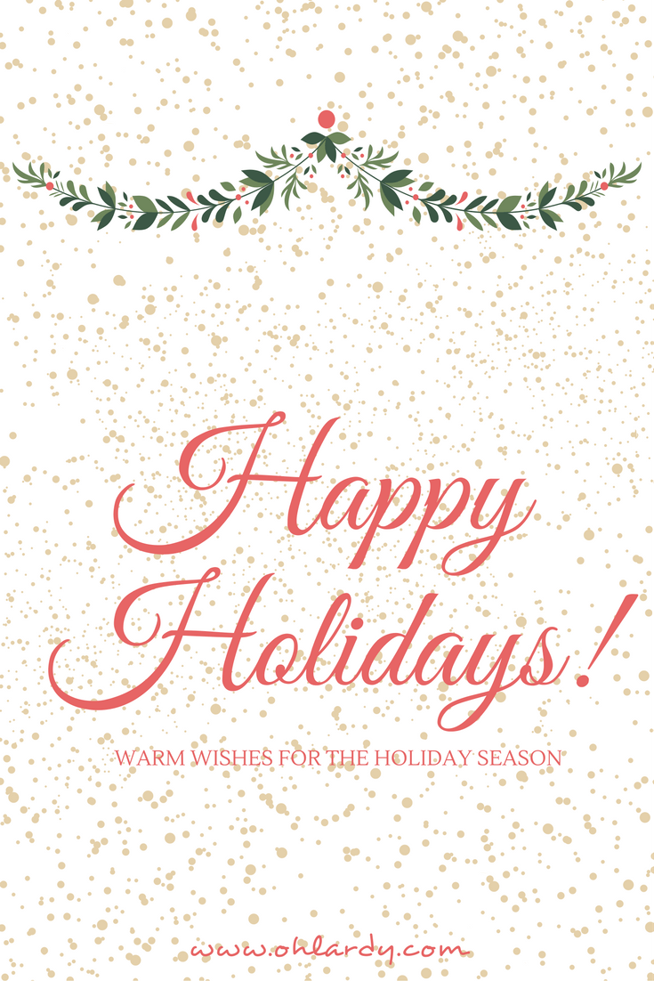 Happy Holidays from Oh Lardy!