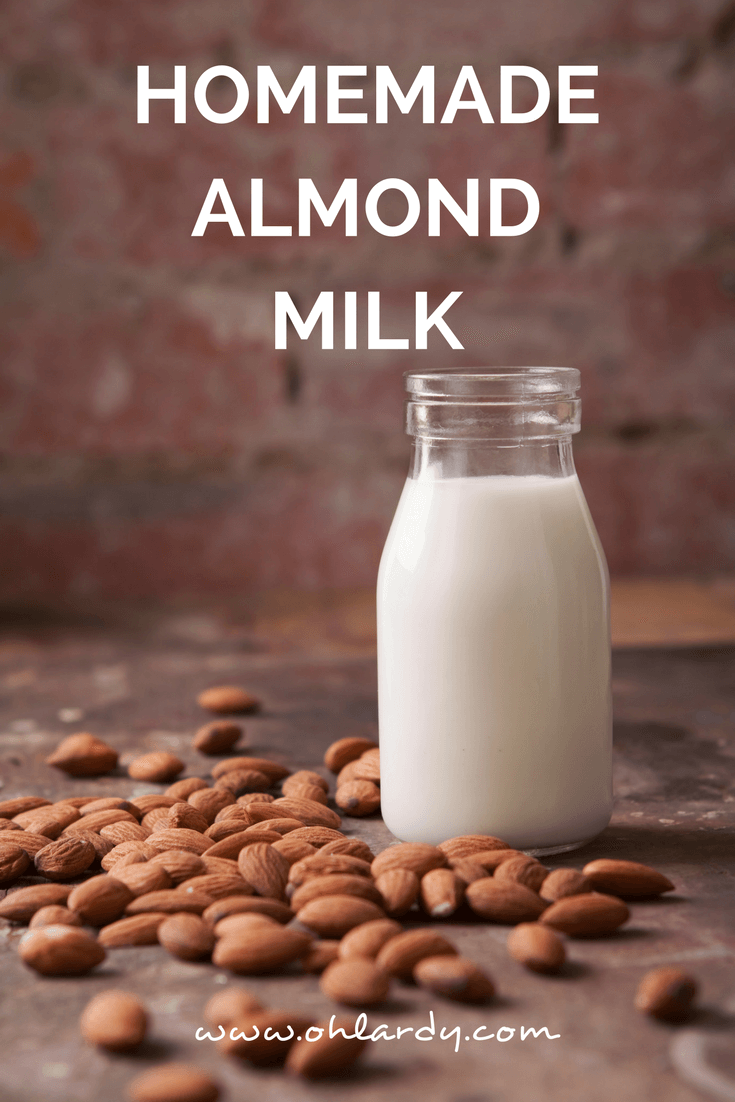 Homemade Almond Milk - Oh Lardy
