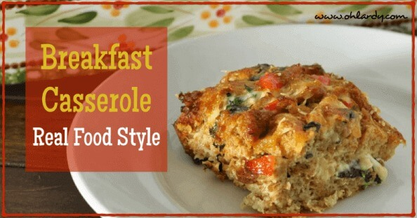 Homemade Breakfast Casserole - Real Food Style - www.ohlardy.com