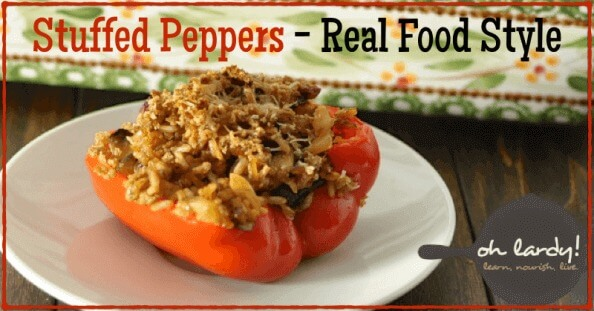 Stuffed Peppers - Real Food Style - www.ohlardy.com