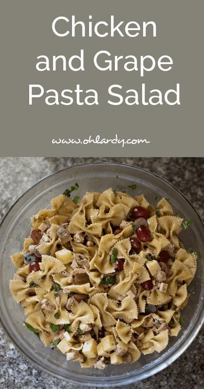 chicken and grape pasta salad - ohlardy.com
