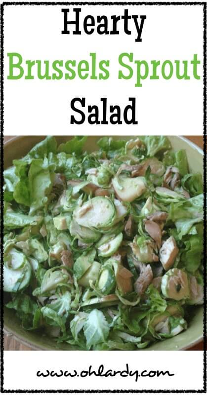 Hearty Brussels Sprout Salad - www.ohlardy.com