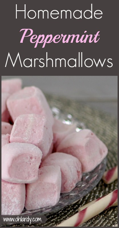 Homemade Peppermint Marshmallows - www.ohlardy.com