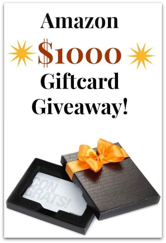 $1000 Amazon Gift Card Giveaway - www.ohlardy.com
