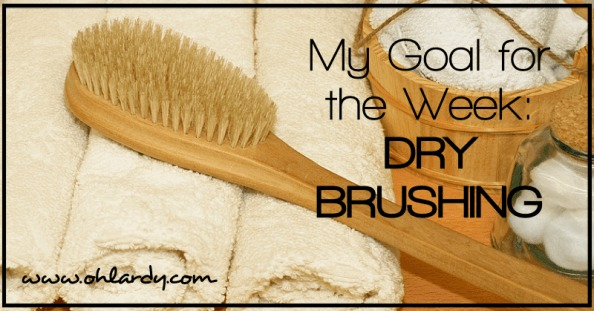 My Goal for the Week: Dry Brushing - www.ohlardy.com