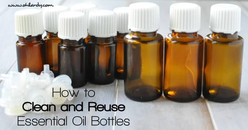 How to Clean How to Reuse Your Empty Essential Oil Bottles - www.ohlardy.com Don't toss your empty bottles. Clean and reuse them. Great for making custom blends, roll-ons, sample bottles, travel bottles and more!!and Reuse Essential Oil Bottles