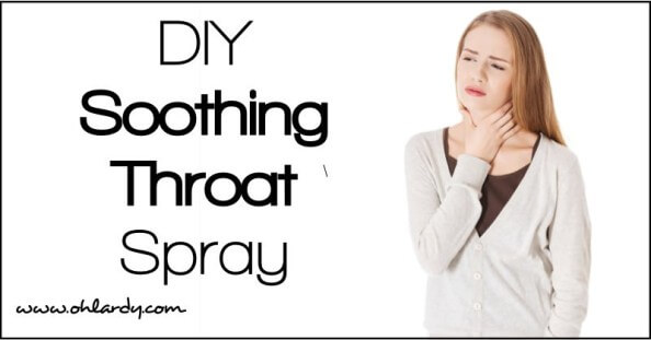 Alleviate a painful throat with our DIY soothing throat spray