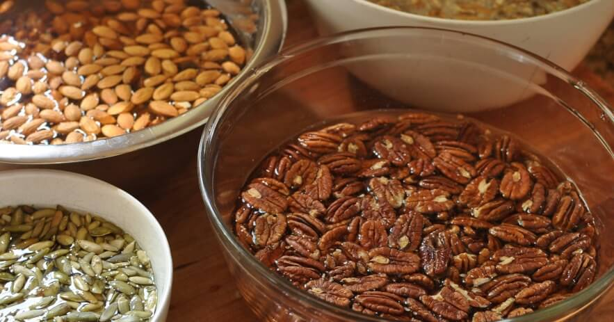 Soaking nuts for better digestion
