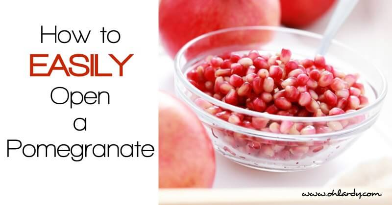How to Easily Open a Pomegranate
