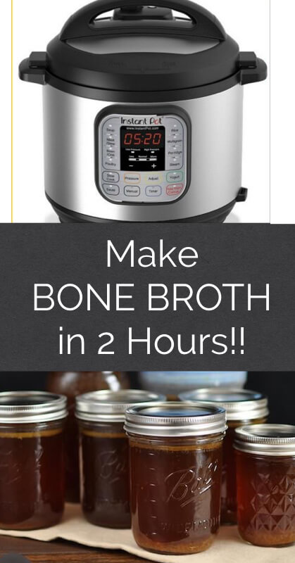 How to Make Bone Broth in an Instant Pot in 2 Hours!